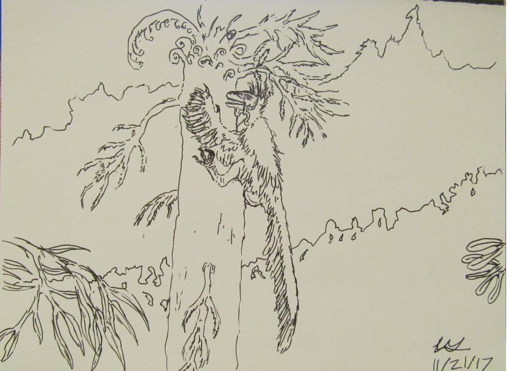 Dinovember #21: Climb by G0j1r4
