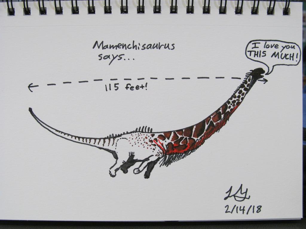 Valendinos: Mamenchisaurus by Philoceratops