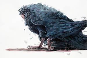 Bird Howl - Inktober 21st by Danikatze