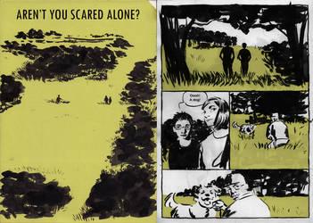 Aren't you scared alone? by Danikatze