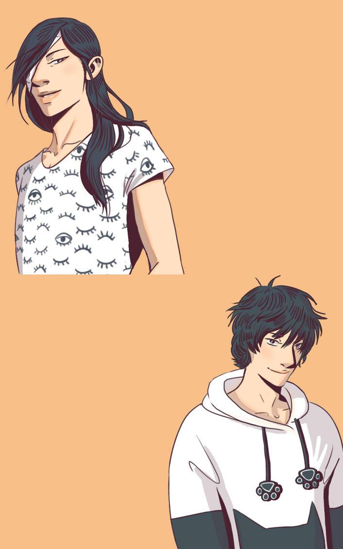 Matoba and Tanuma (fashion meme) by Danikatze
