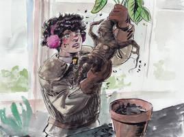 Inktober 9th: Pomona Sprout by Danikatze