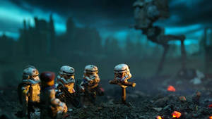star wars lego wallpaper  by hecticKURT
