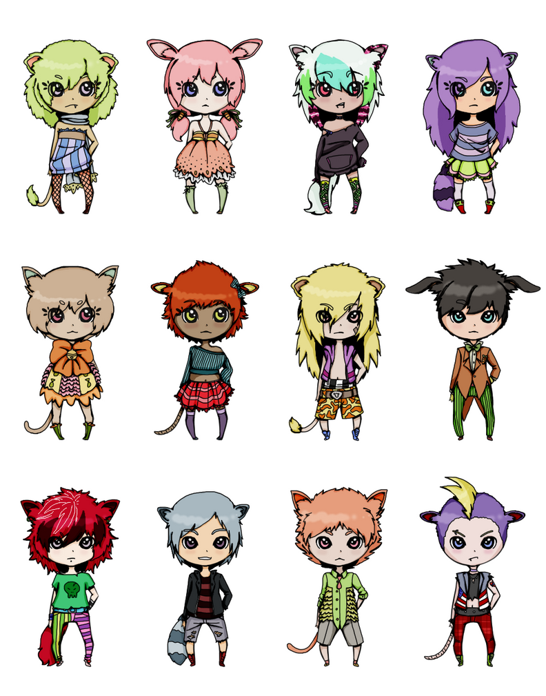 Cute People Clipart Cute Chibi People Clipart