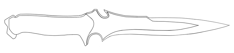 image about Knife Patterns Printable named printable knife templates -