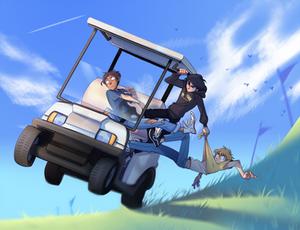 the boys go golfing
