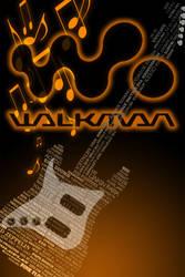 Walkman Wallpaper Orange Black Music Notes-2
