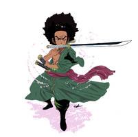 Huey Freeman X Roronoa Zoro by KaijuBrothers