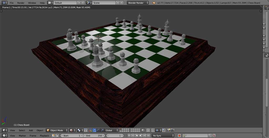 Chess Scene 2 -WIP- by Chadowikku