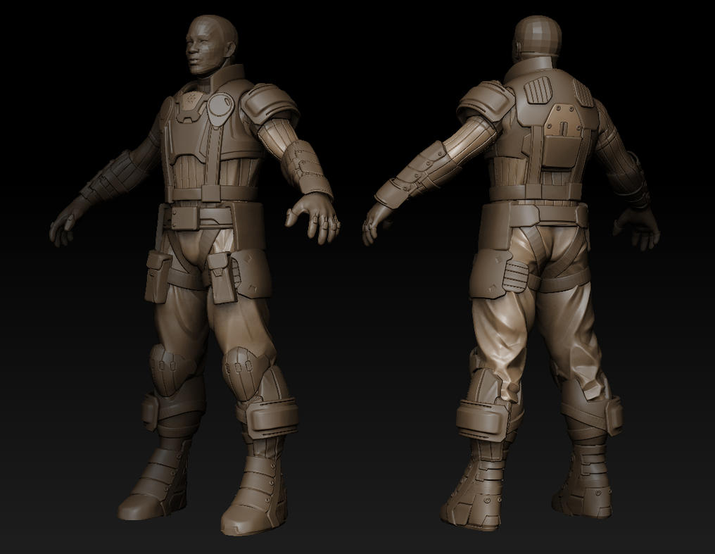 Male character for Earthrise by VertexBee