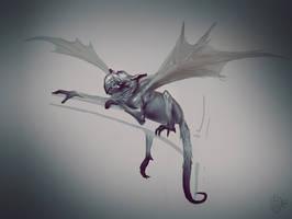 Weird monkey-dragon thingy by VertexBee