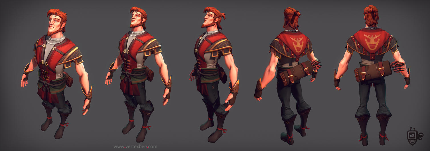Archer in-game model by VertexBee