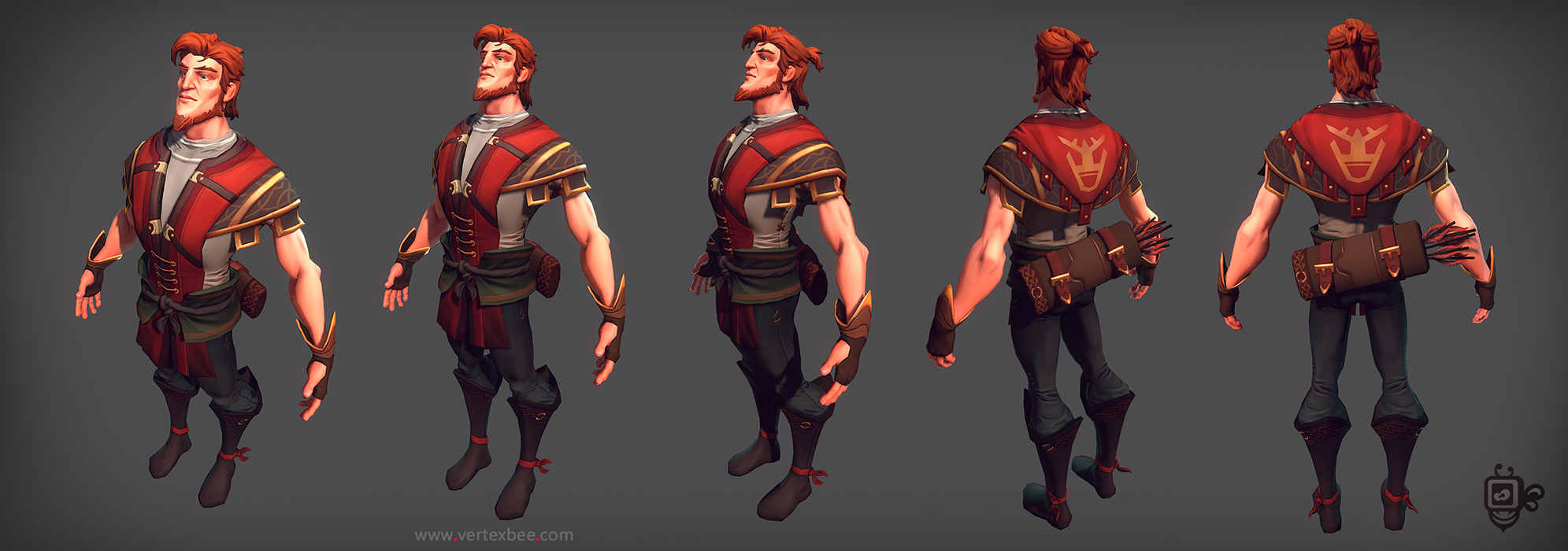 3d Game Character Design Tutorial : Archer in game model by vertexbee on deviantart
