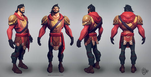 Warrior Lowpoly by VertexBee