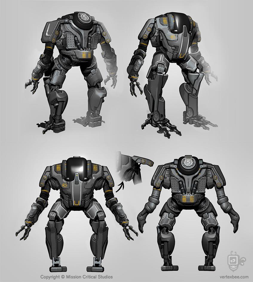 Robot5 Marine Web by VertexBee