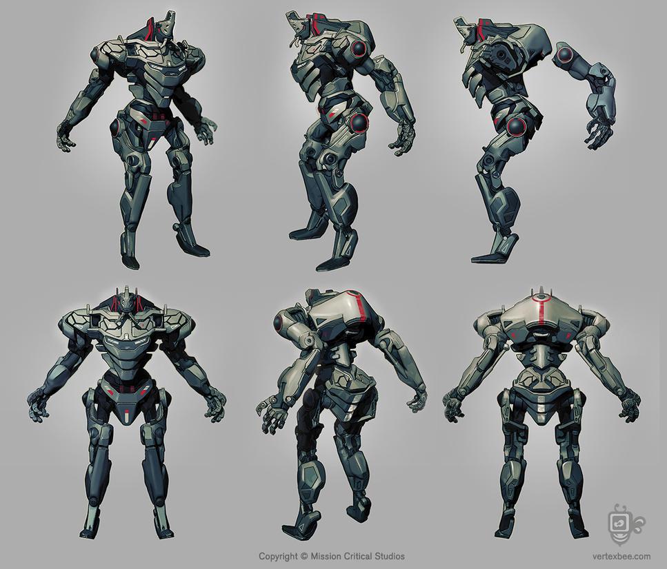 Robot7 Asian Web by VertexBee
