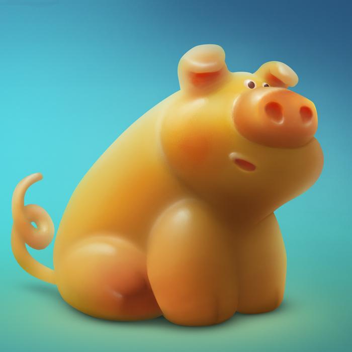 Gummy-pig by VertexBee