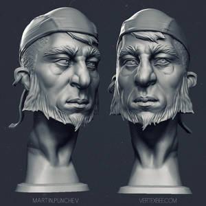 Pirate...no, rocker bust. :)