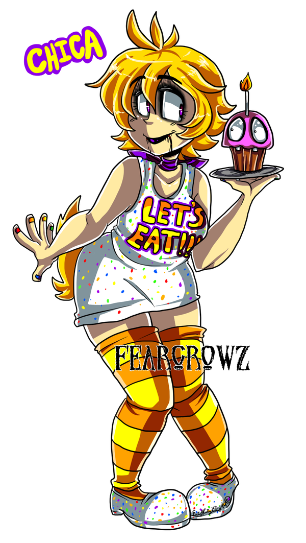 Human chica by fearcrowz on deviantart