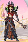 Warcraft Blood Elf warlock