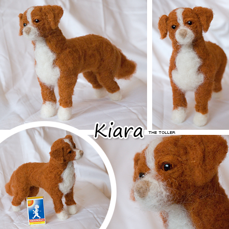 Needle felted toller by Cemina