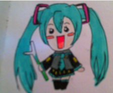 Chibi Miku san by vocalover9326
