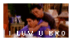 Friends Stamp~ Joey And Ross by vocalover9326