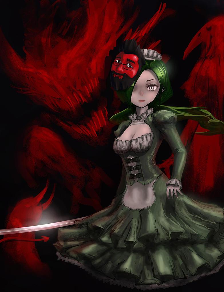 MaidRPG Kagami Utako by putridCheese