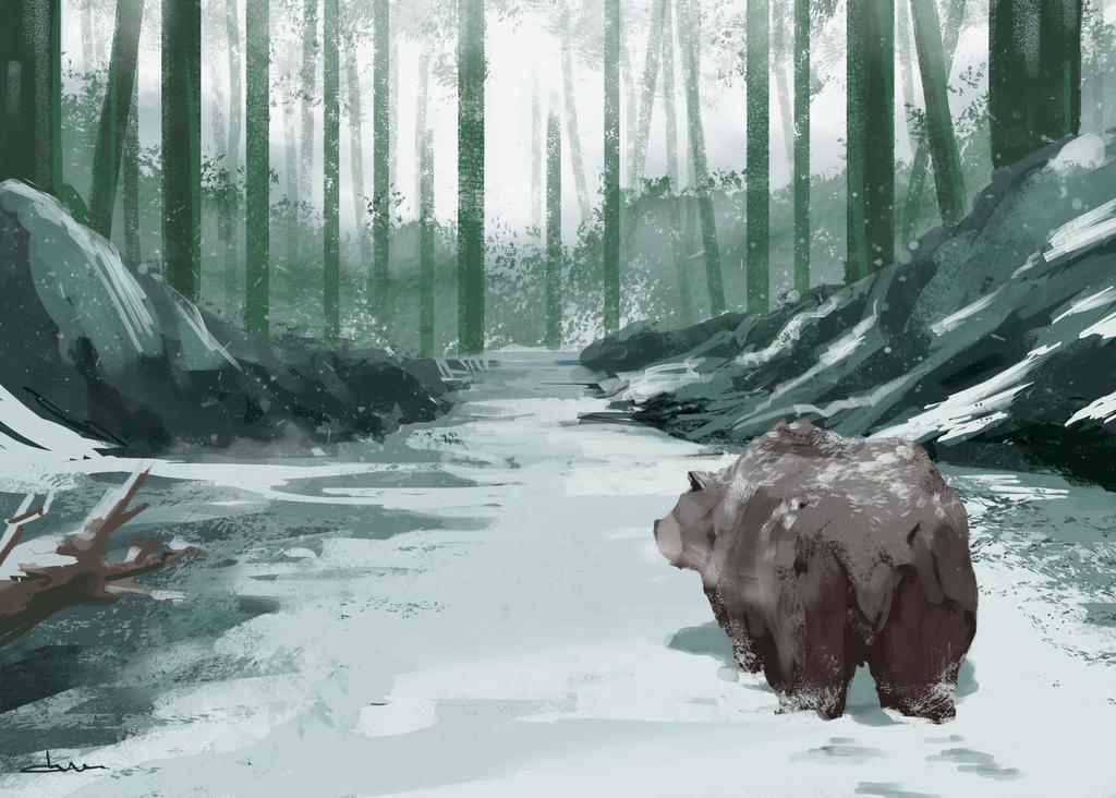 Winter Encounter by putridCheese