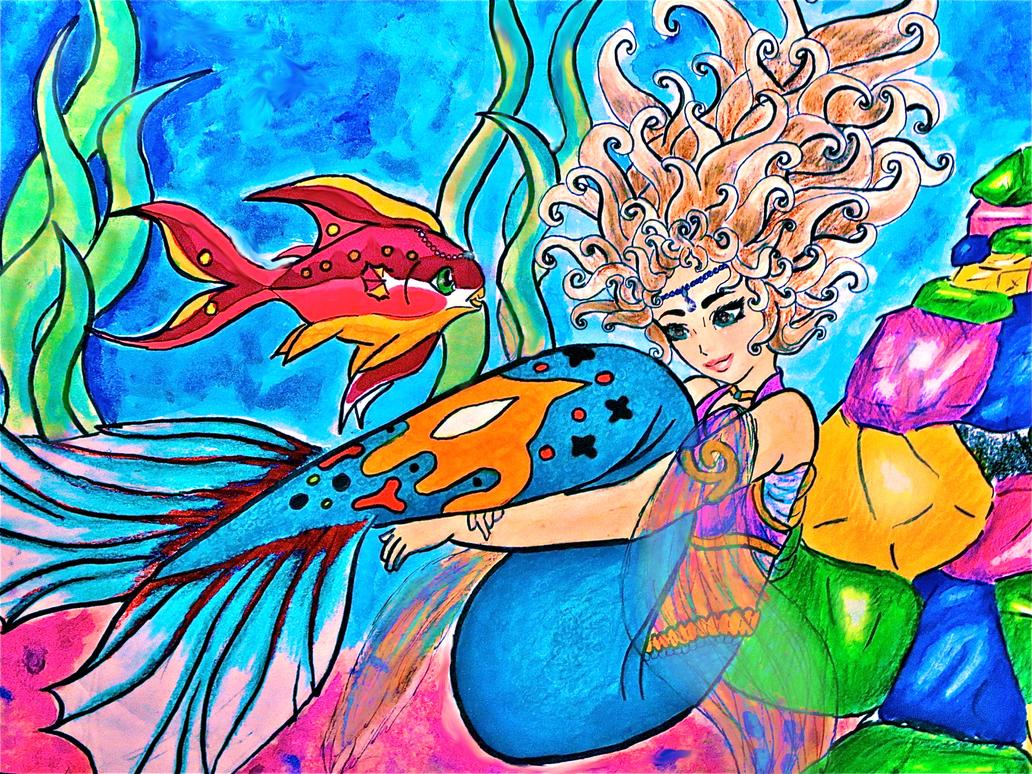 Mermaide by Risuna-Phenix