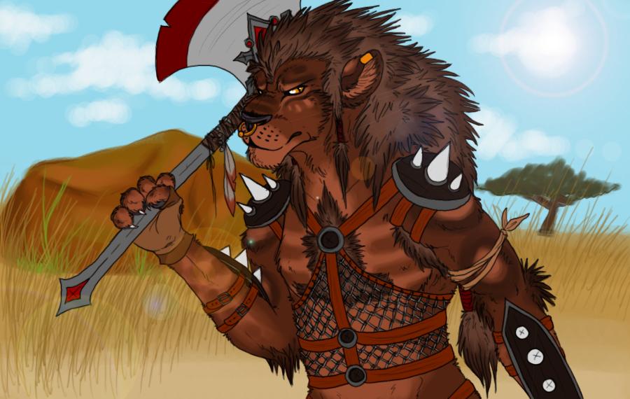 Deviantart Lion Warrior: Lion Warrior By Allytross On DeviantArt