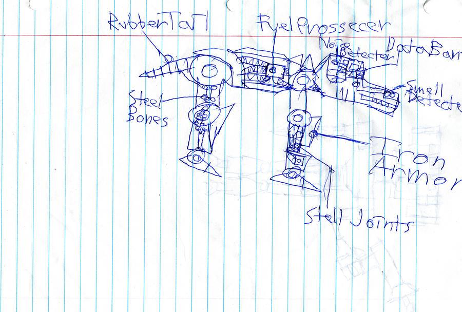 Robot dog blueprint by robotkid02 on deviantart robot dog blueprint by robotkid02 malvernweather Gallery