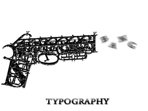 Typography :Gun by BishoyMedhat