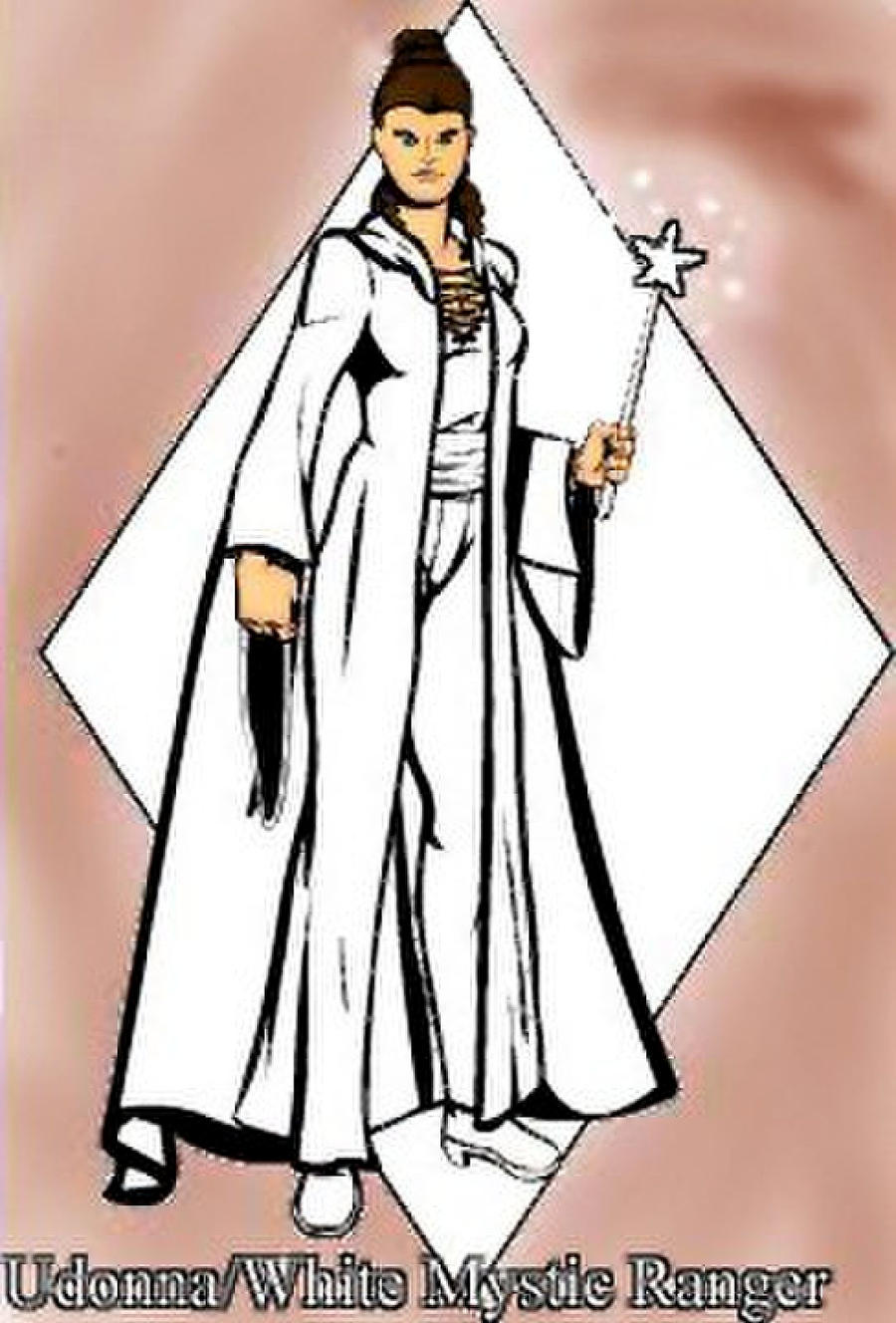 Udonna  White Mystic Ranger by reader1718White Mystic Ranger