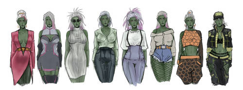 Collection of Dresses by Werility