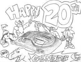 Happy Birthday Sega Genesis by ALhedgehog