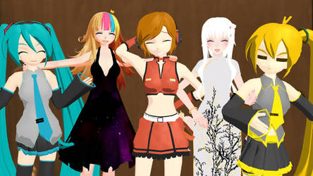 I finally figured out how to put models on my MMD. by HannahKagamine11