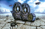 Steampunk universe - stock image