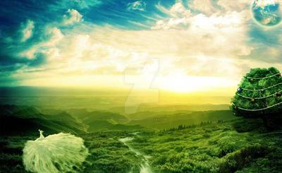 Beautiful fantasy scenery - STOCK IMAGE