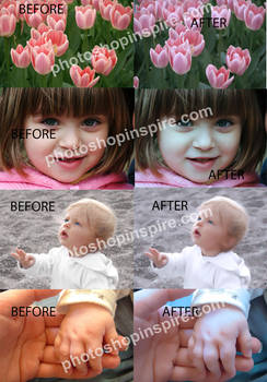 Dreamy effect Photoshop action  Freebie