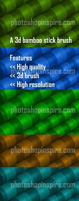 3d Bamboo Photoshop brush Freebie