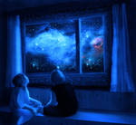 Looking at the night sky