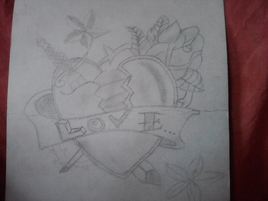 Corazon para mi novia, lapiz by beatlemaniaca on DeviantArt