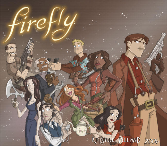 The crew of the Serenity by Firefly-Fans