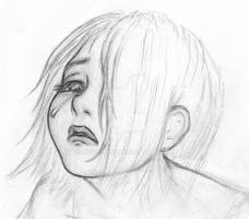 Crying girl -sketch-