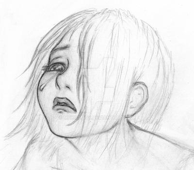 Crying girl sketch by mrkilljoy