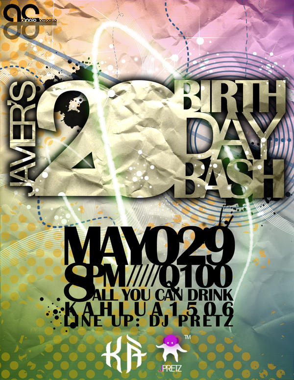 birthday flyer by kampollo