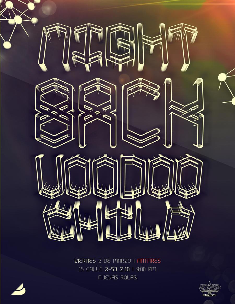 Night Back Voodoo Child by kampollo