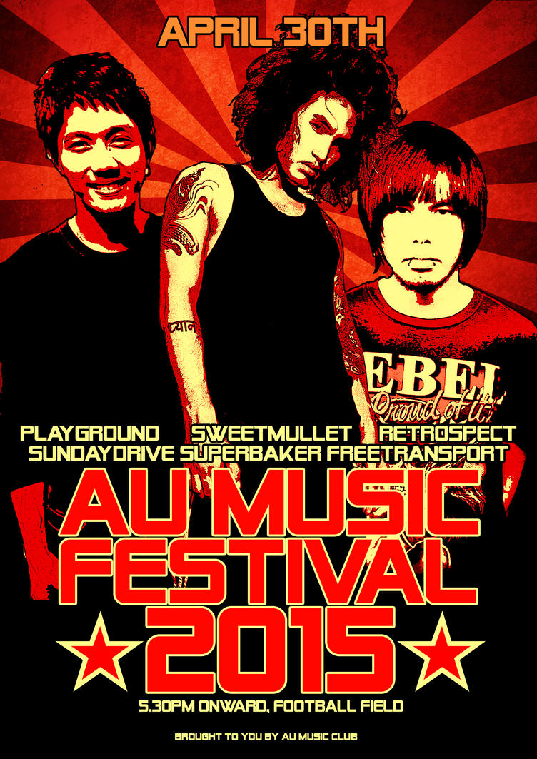 AU MUSIC FESTiVAL 2015 Poster by Maxyall