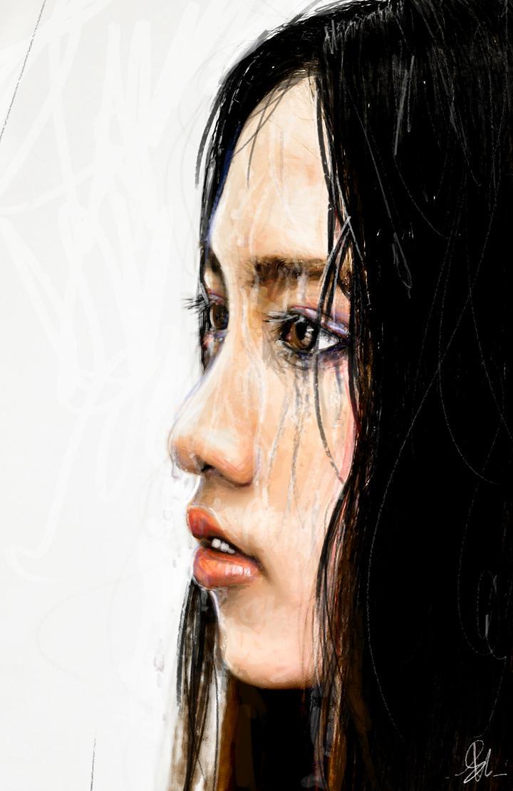 Rain, Mascara, and Chalk by Maxyall
